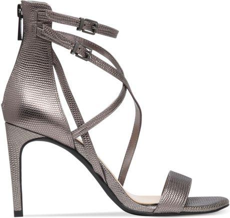 bda2c5612b4537 Jessica Simpson Myelle Strappy Sandals in Gray (Gunmetal)