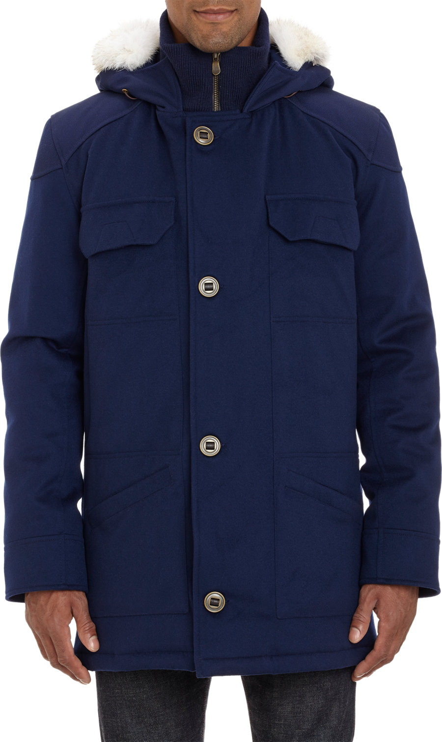 "Canada Goose langford parka sale shop - Canada goose Loro Piana Wool ""Merano"" Coat in Blue for Men 