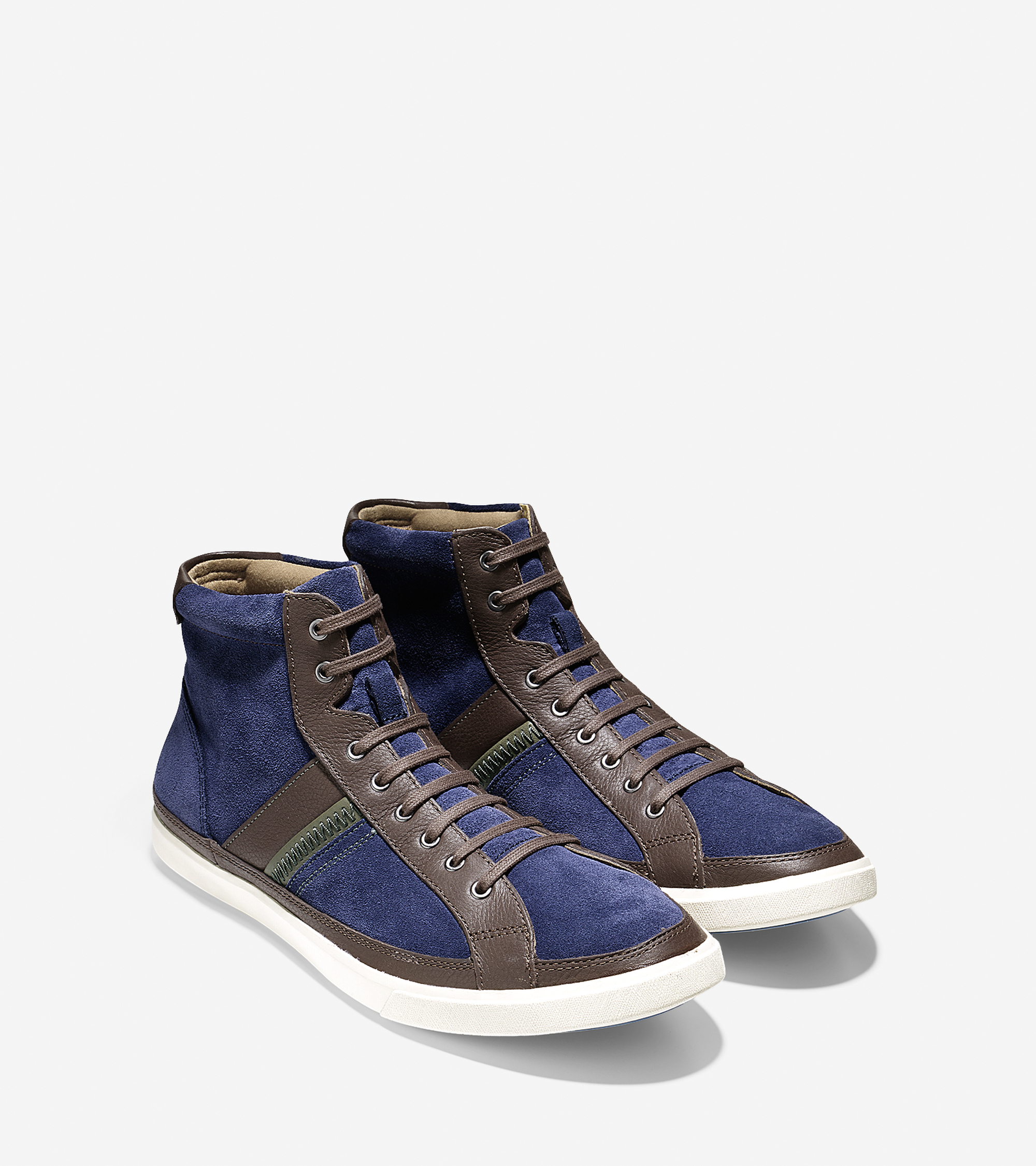 cole haan joshua hightop sneaker in blue for blue