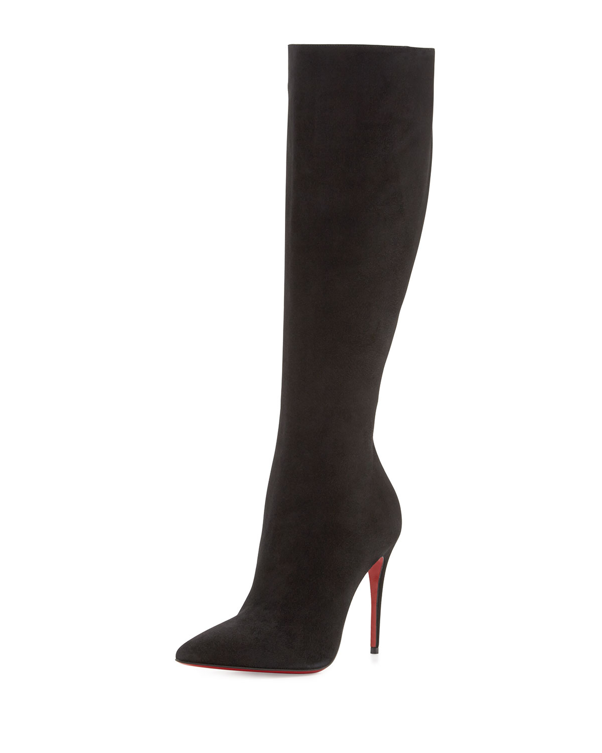 Christian Louboutin Pointed-Toe Knee-High Boots shop for sale 100% authentic online cheap sale cheapest price 98S9Yzon