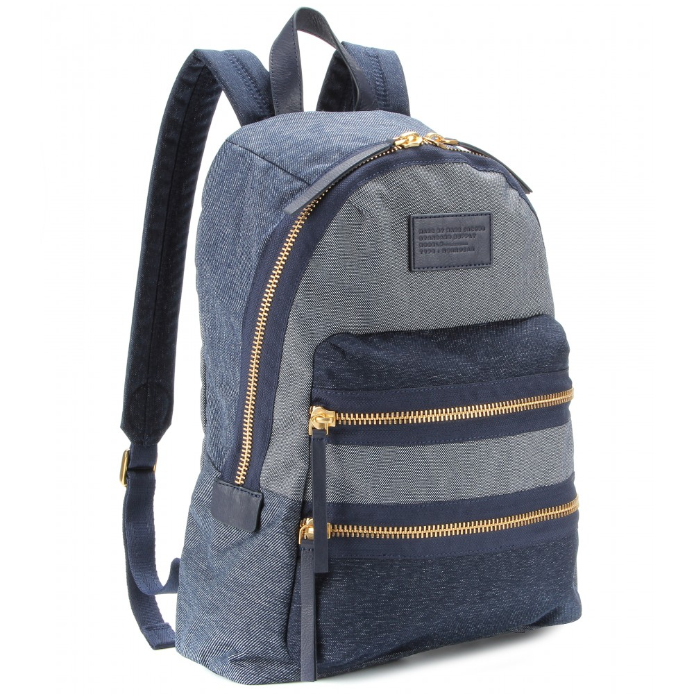 marc by marc jacobs domo arigato chambray packrat denim backpack in blue twilight navy lyst. Black Bedroom Furniture Sets. Home Design Ideas