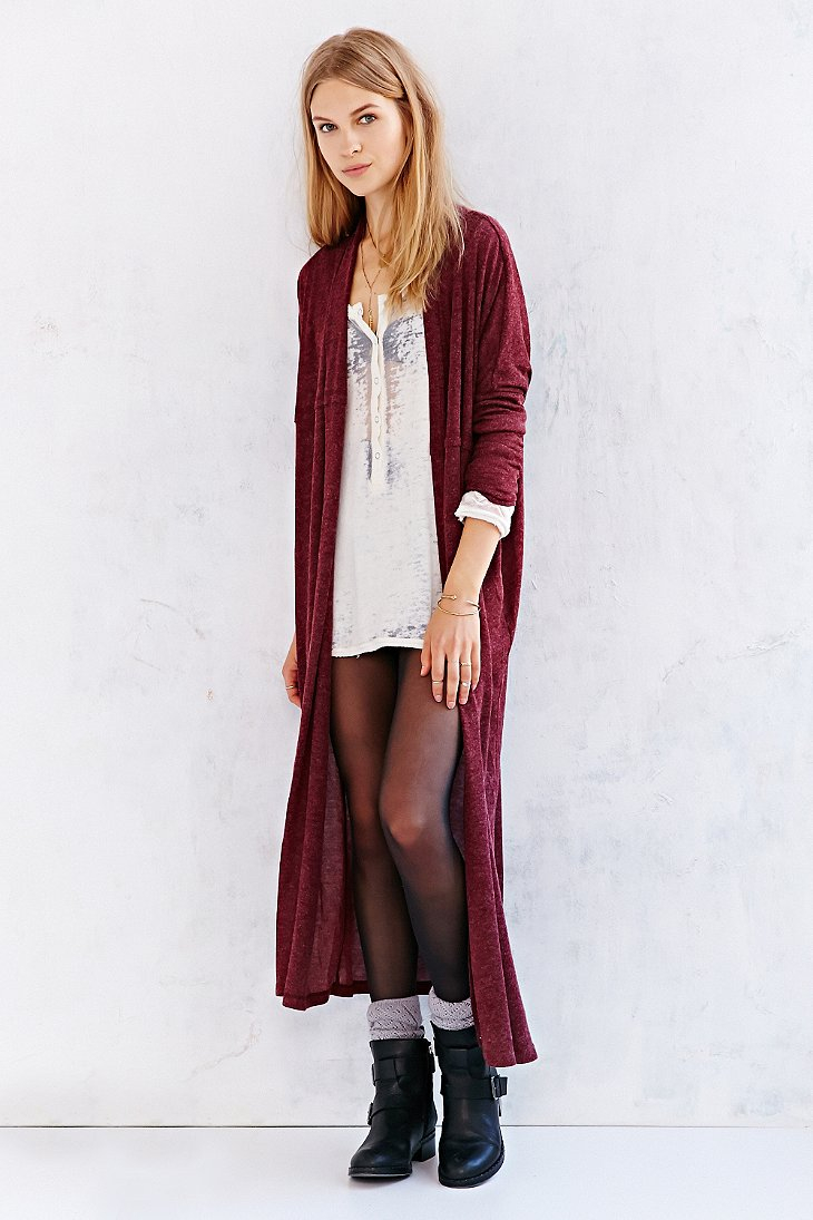 Silence   noise Silence   Noise Layer-It-On Duster Cardigan ...