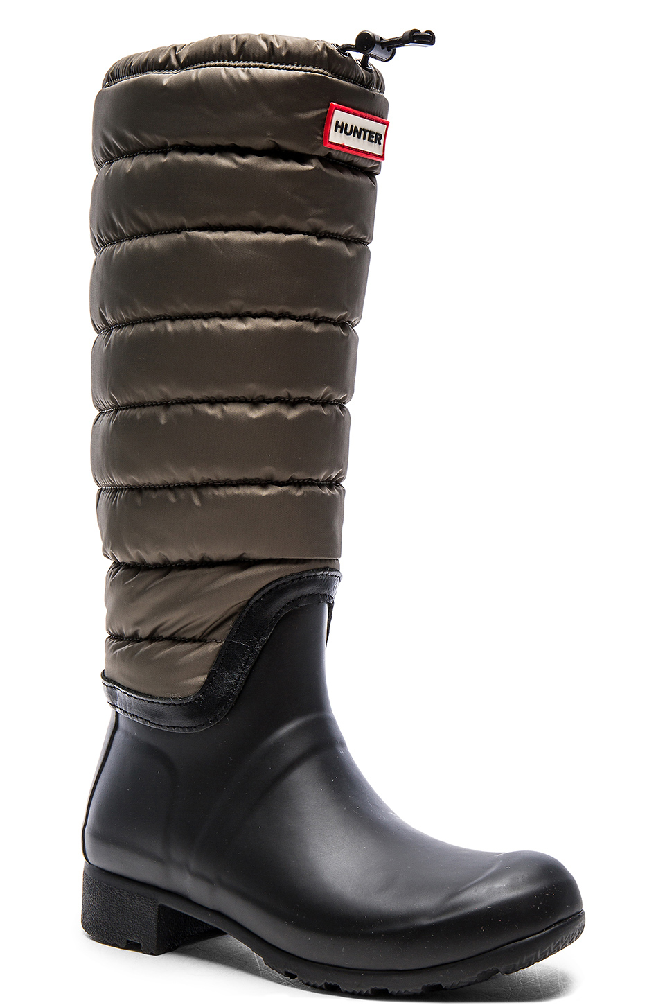 Hunter Original Quilted Leg Boot In Green Lyst