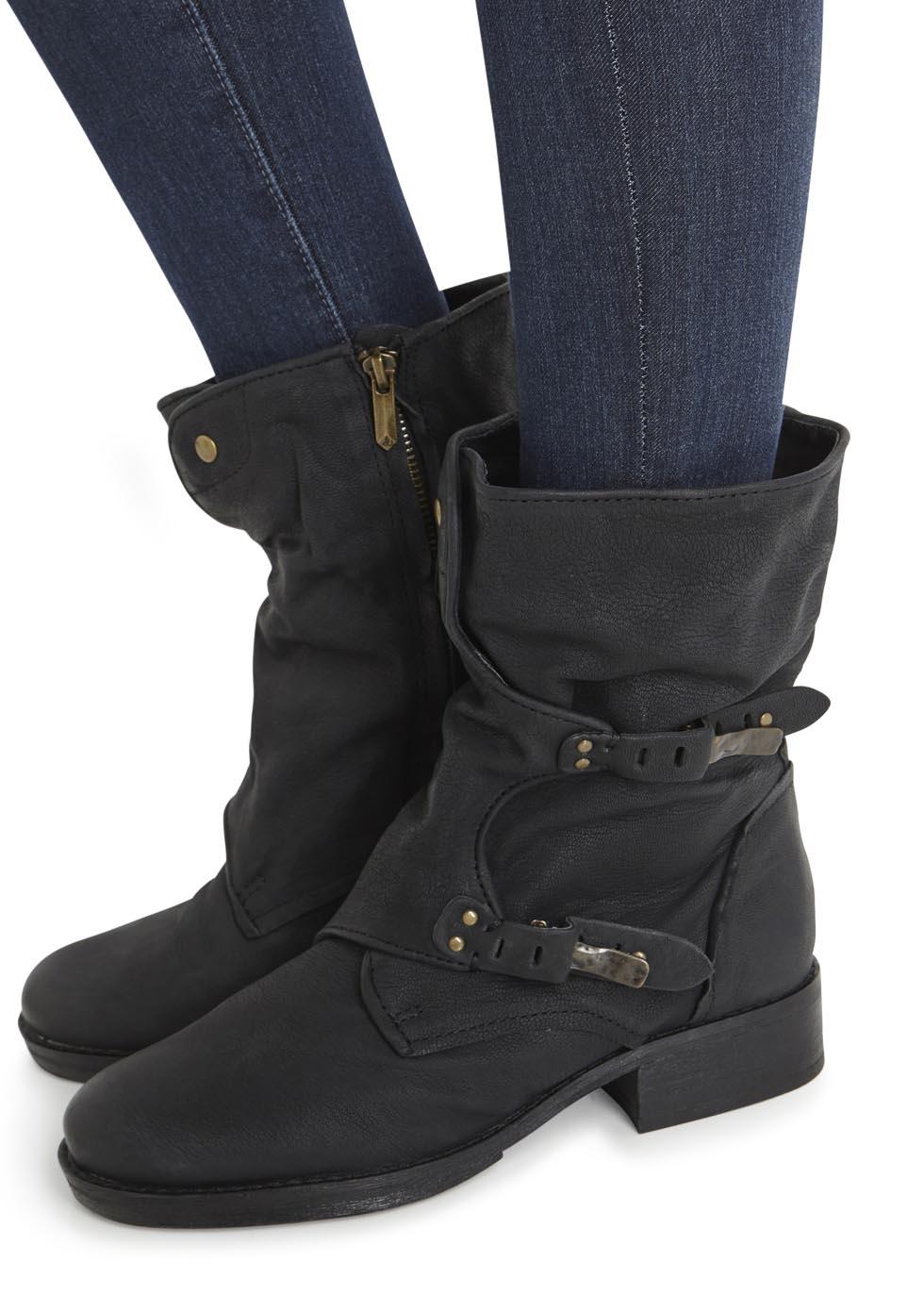 dd38b76ef9bc Sam Edelman Ridge Black Leather Boots in Black - Lyst