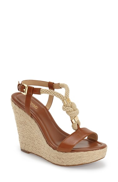 ebf26e7db4a6 Lyst - MICHAEL Michael Kors  holly  Espadrille Wedge Sandal in Natural