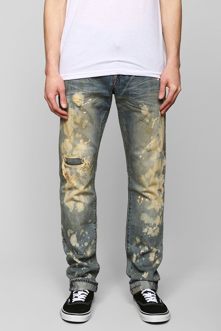 Mens Bleached Jeans