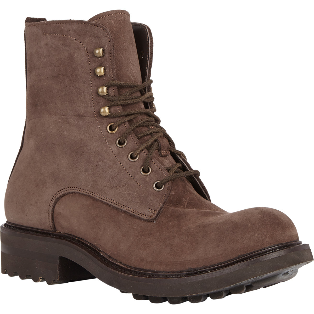 shoto lace up boots in brown for dk brown lyst