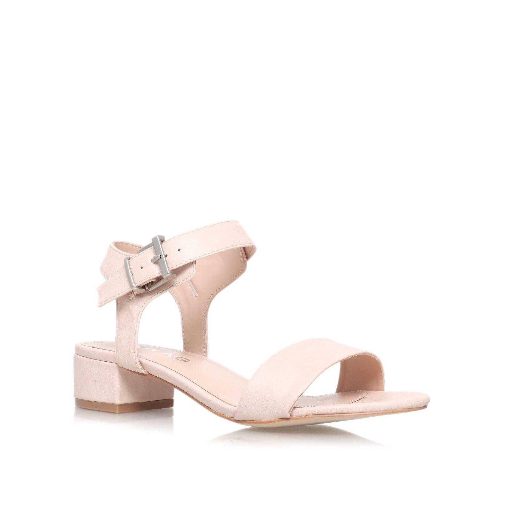 Low Heel Nude Sandals - Is Heel