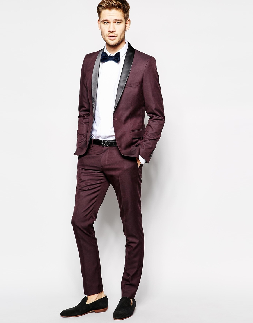 Selected Selected Tuxedo Jacket With Shawl Lapel In Skinny Fit in