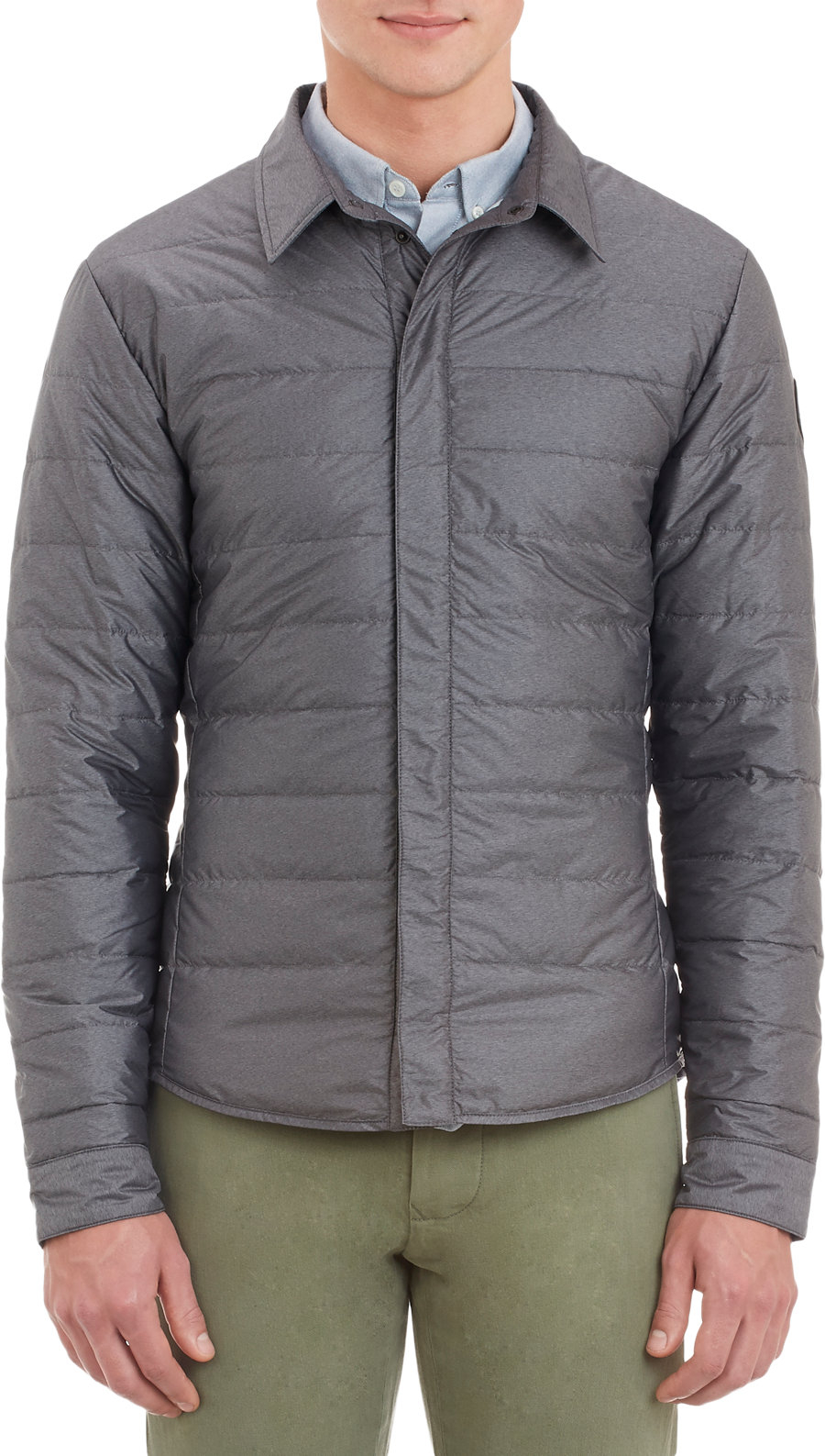 Canada Goose Lightweight Down Jacket In Gray For Men Grey