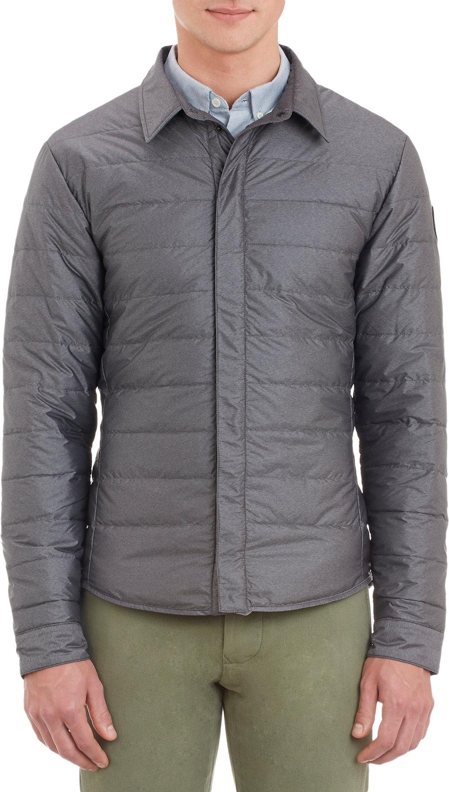 Canada Goose Lightweight Down Jacket In Gray For Men Grey