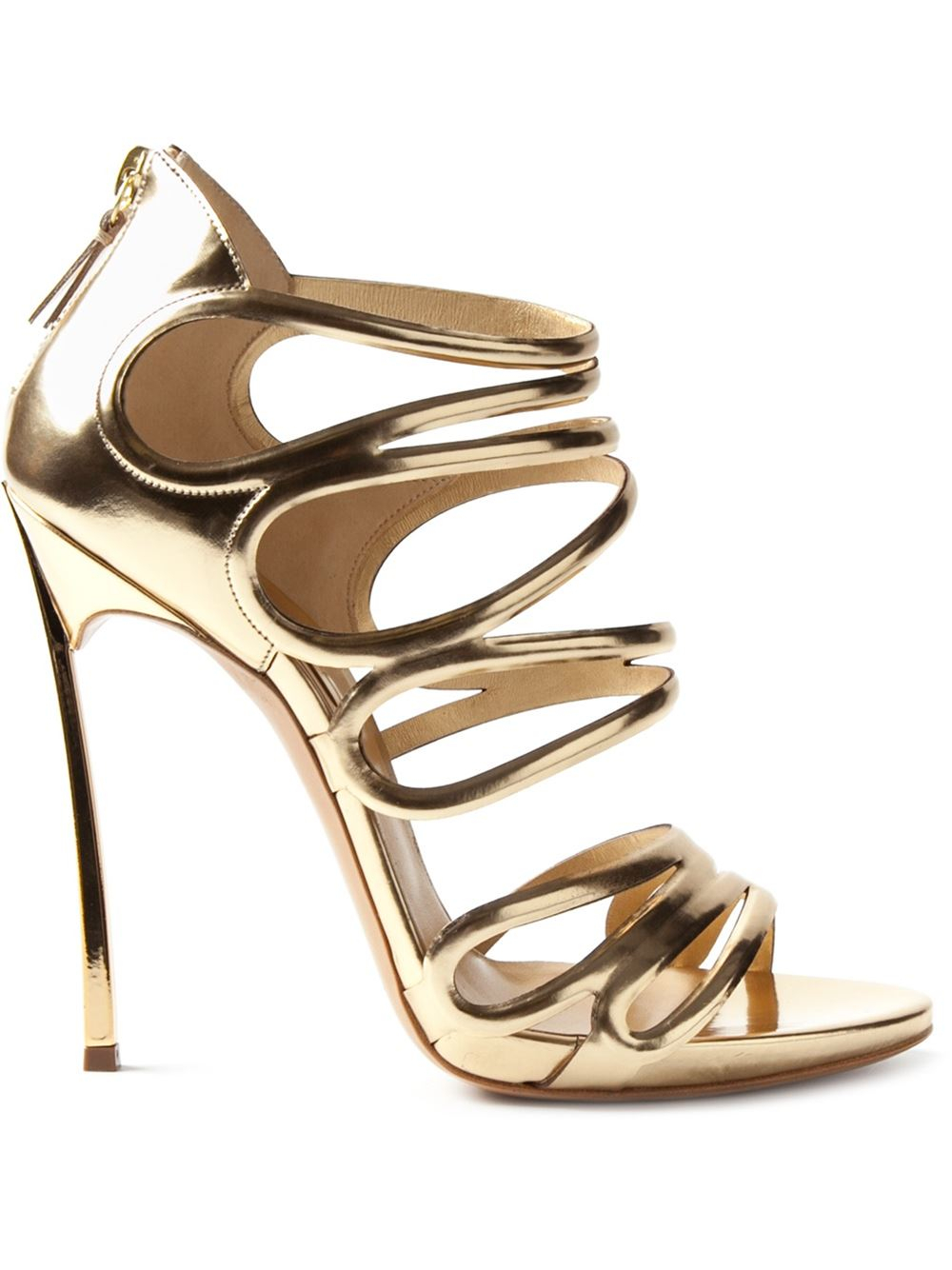 43cbb03608 Casadei Blade Sandals in Metallic - Lyst