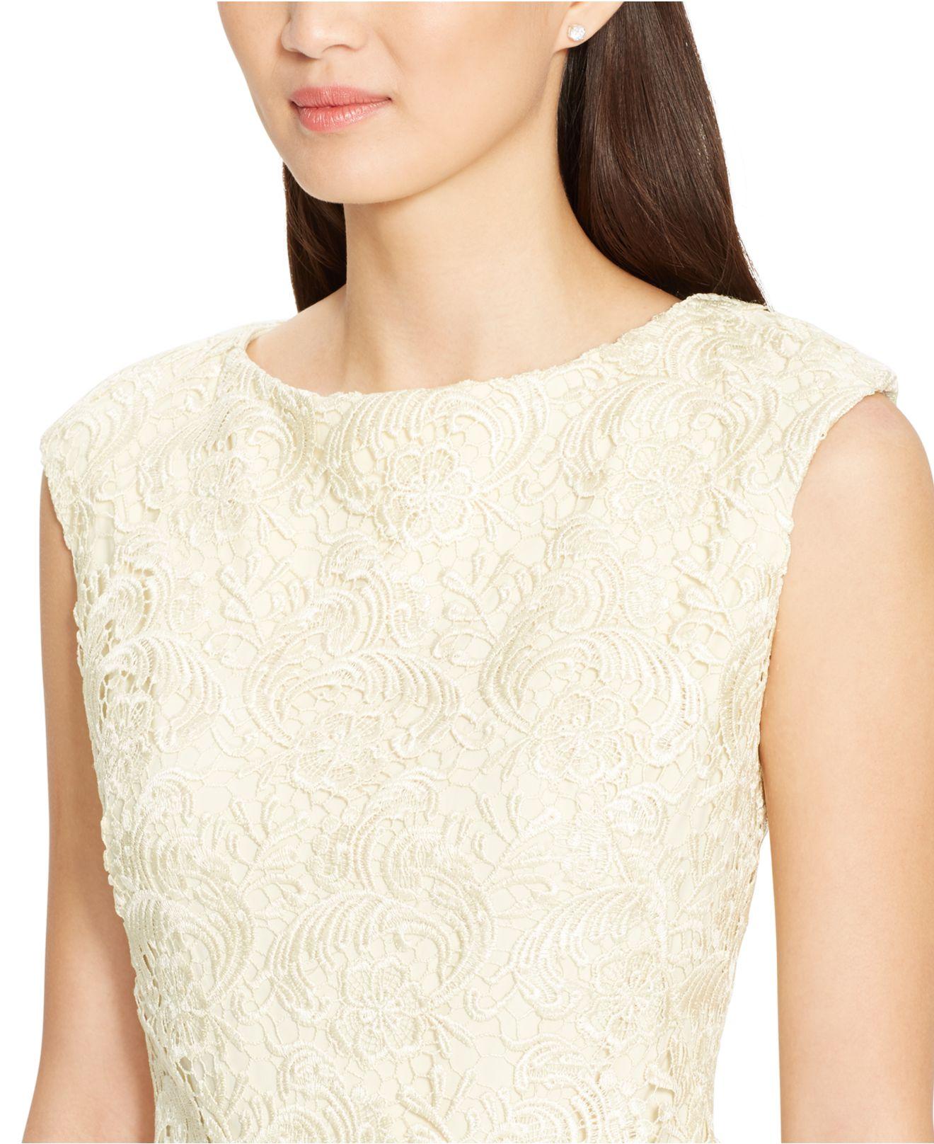 Ralph lauren boat neck lace dress