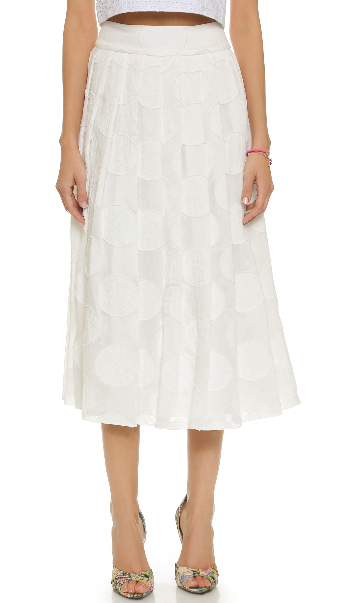 calista pleated skirt white in white lyst