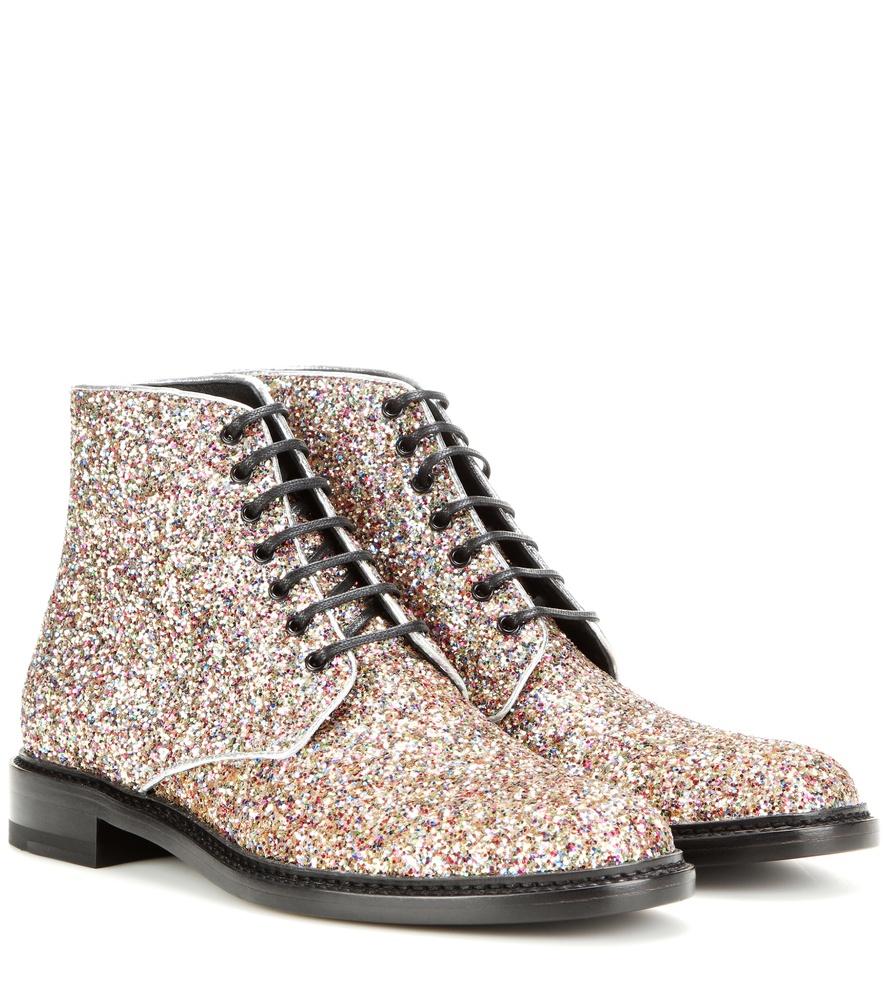 f6e3ce5dae7 Saint Laurent Lolita 20 Glitter Boots - Lyst