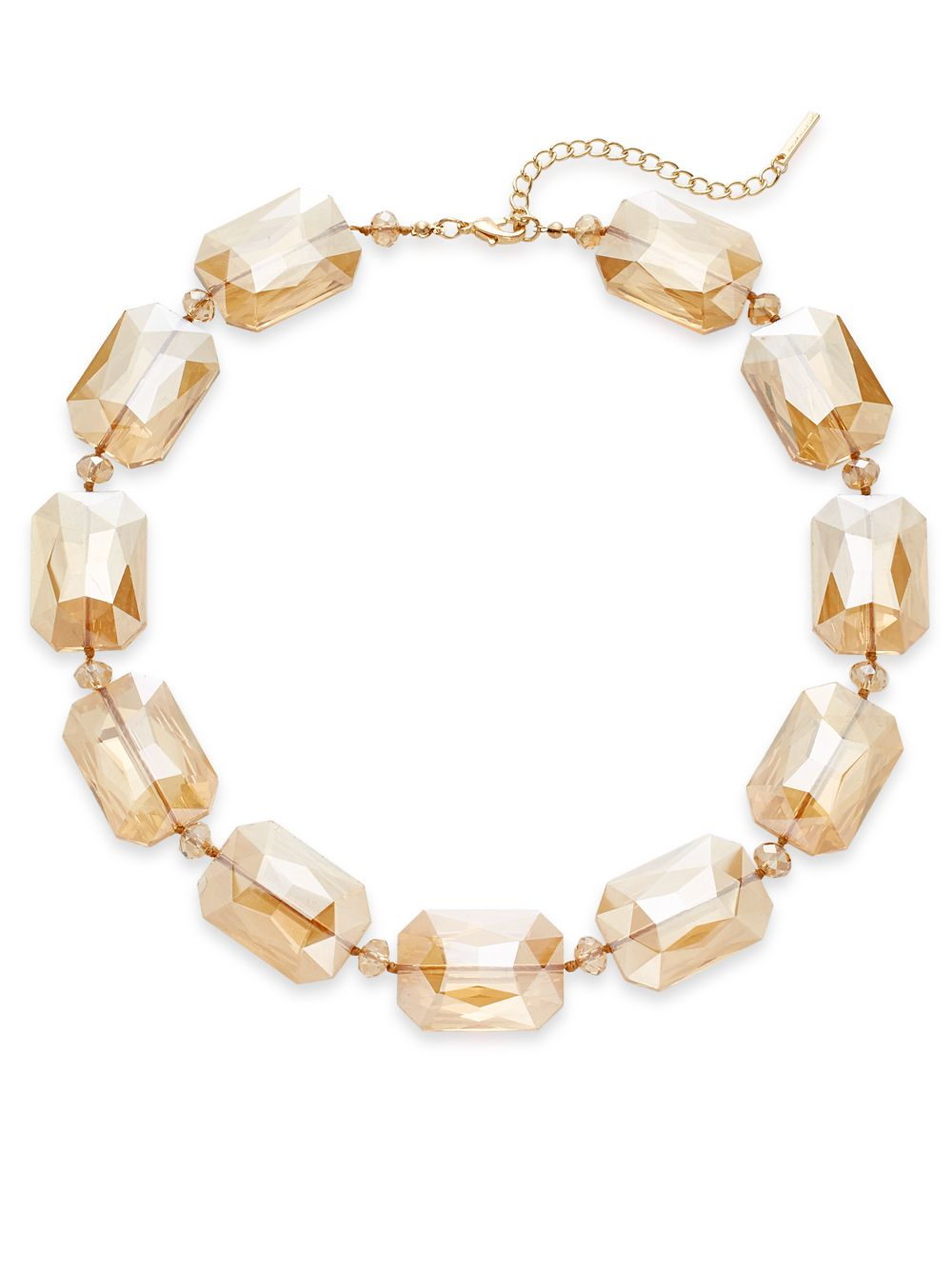 saks fifth avenue faceted beaded necklace in metallic lyst