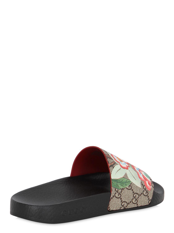 41d53ba638c Lyst - Gucci 20mm Pursuit Gg Supreme Slide Sandals