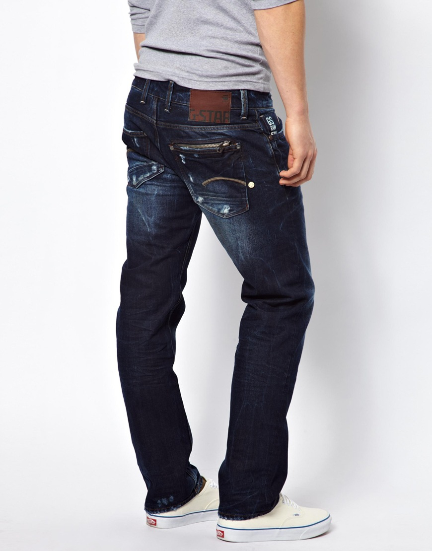 g star raw g star jeans attacc low straight fit medium. Black Bedroom Furniture Sets. Home Design Ideas