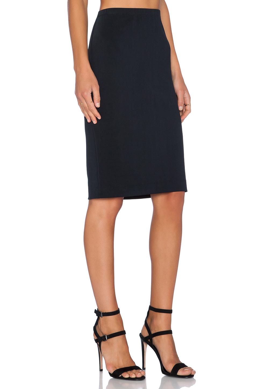 fifteen twenty scuba pencil skirt in black lyst