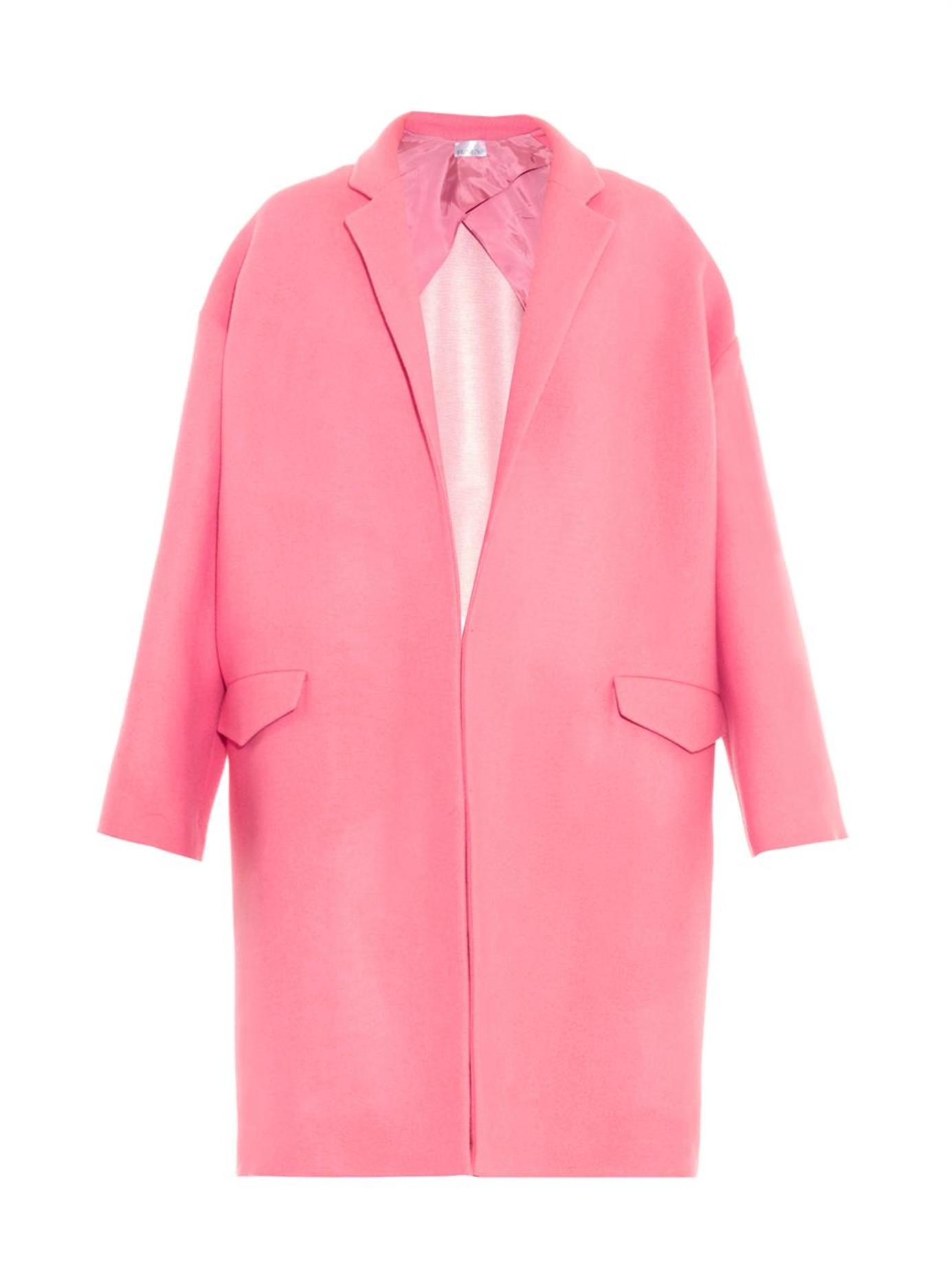Raey Unlined Blanket Wool Coat in Pink | Lyst