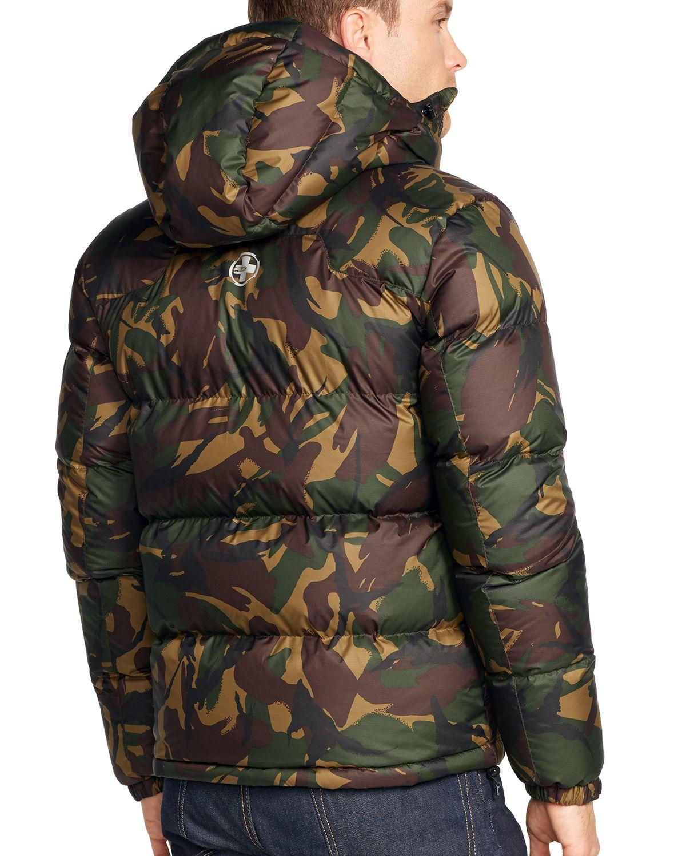 Ralph Lauren Polo Rlx Camo Ripstop Down Jacket In Green