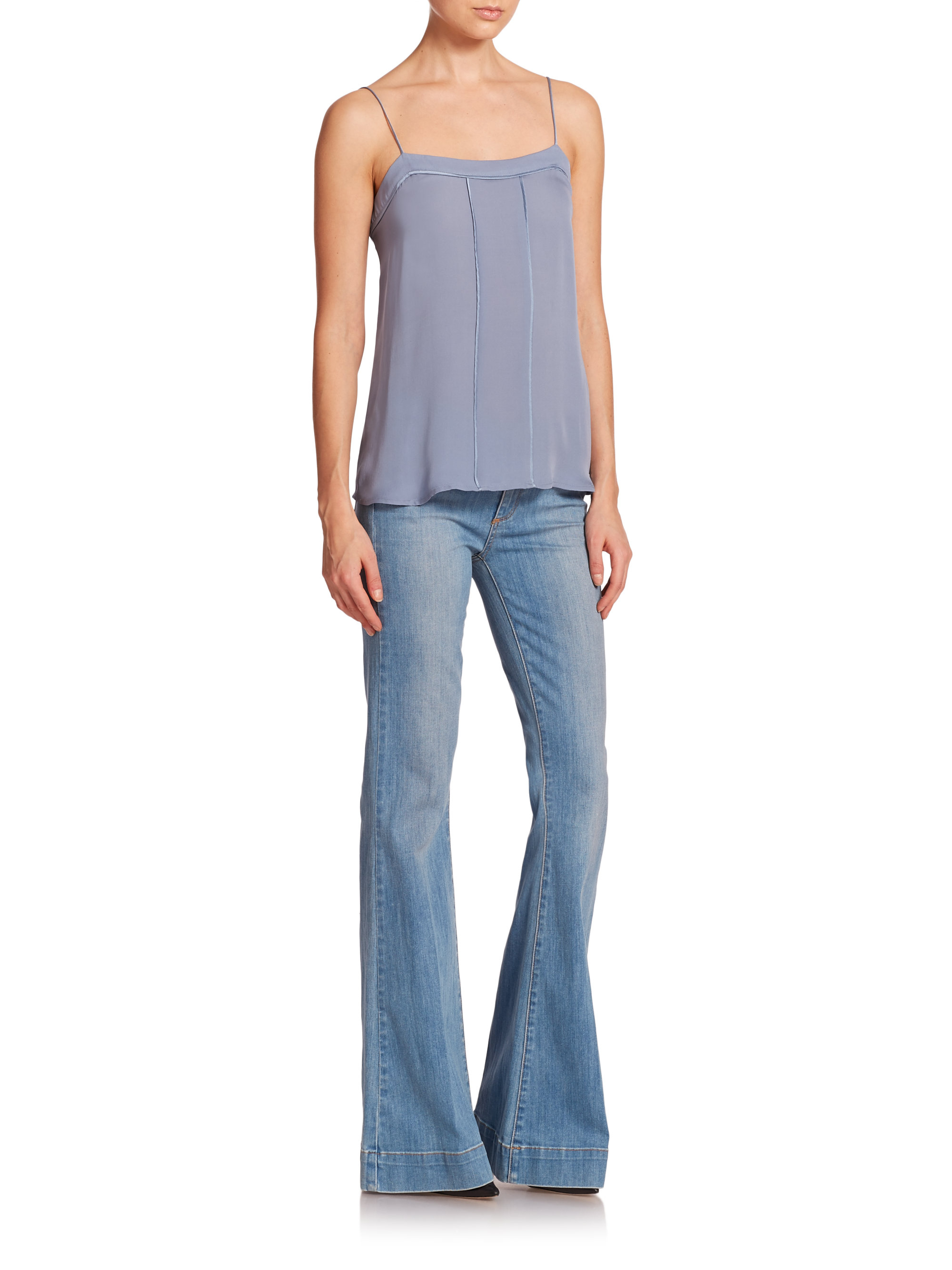 178d0fdcbacd9 Lyst - PAIGE Fiona High-rise Flare Jeans in Blue