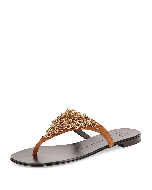 Burberry Chain-Link Thong Sandals cheap best wholesale shop for buy cheap sale qyblMUySp