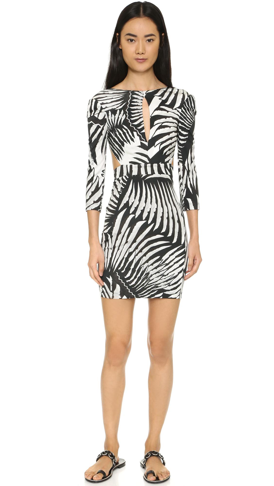 8111c50801c Lyst - Just Cavalli Kraken Print Dress in White