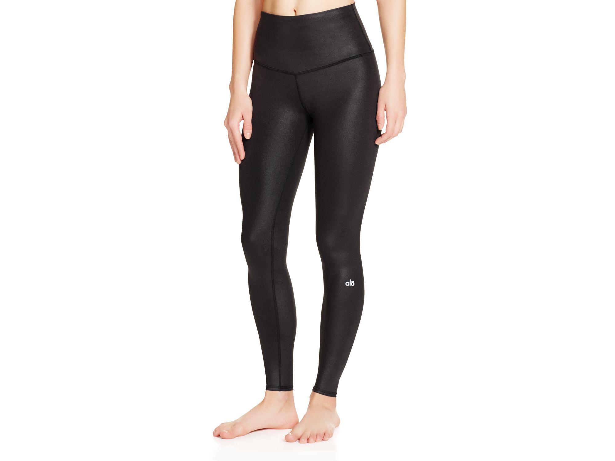 4edf8c4dae Alo Yoga High Waist Airbrush Leggings in Black - Lyst