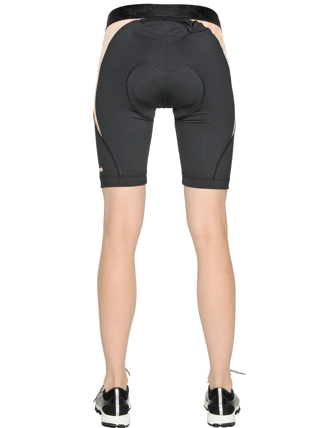 0f3447dd823 adidas By Stella McCartney Padded Microfiber Cycling Shorts in Black ...
