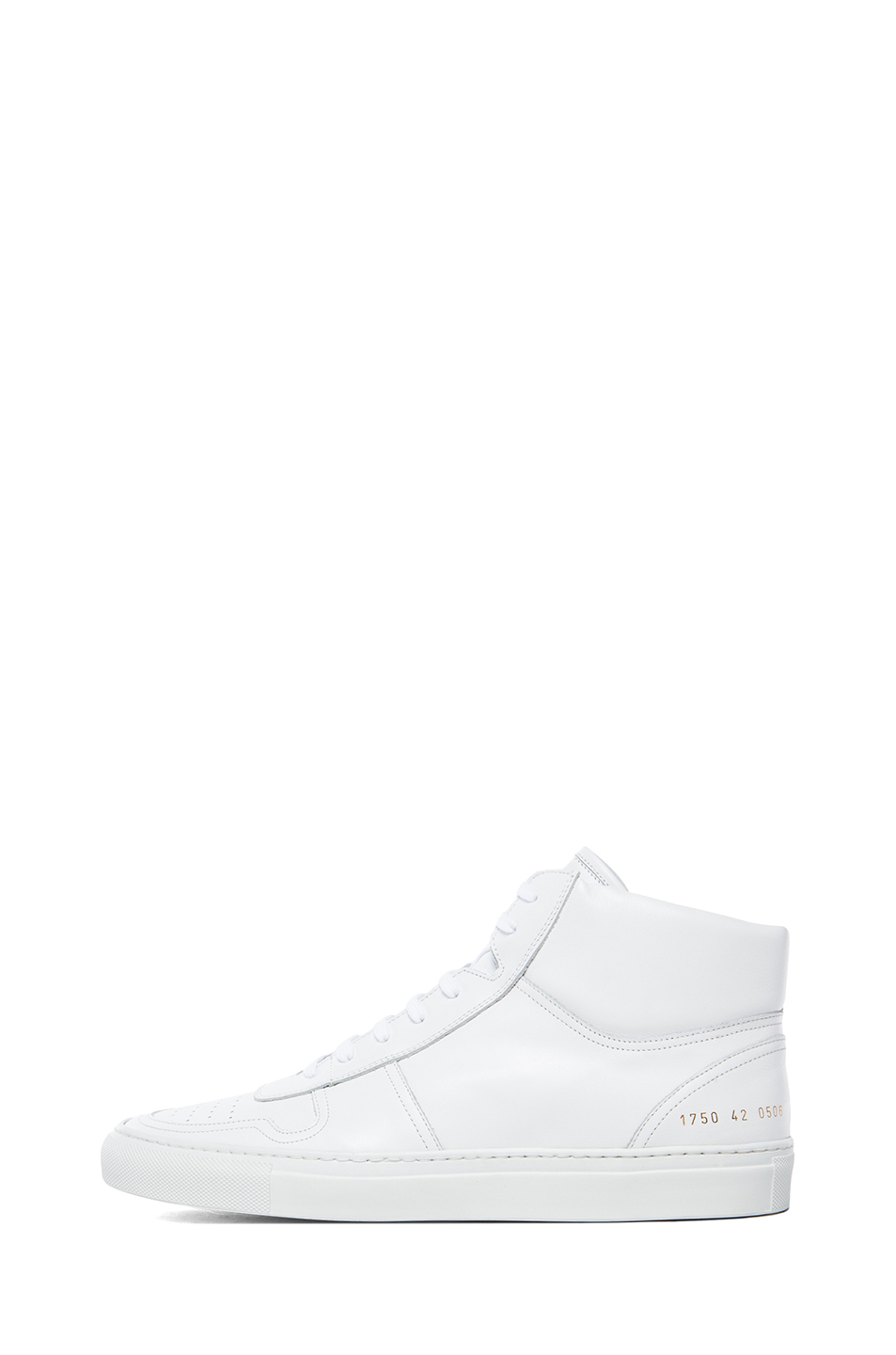 common projects high basketball leather sneakers in white lyst. Black Bedroom Furniture Sets. Home Design Ideas
