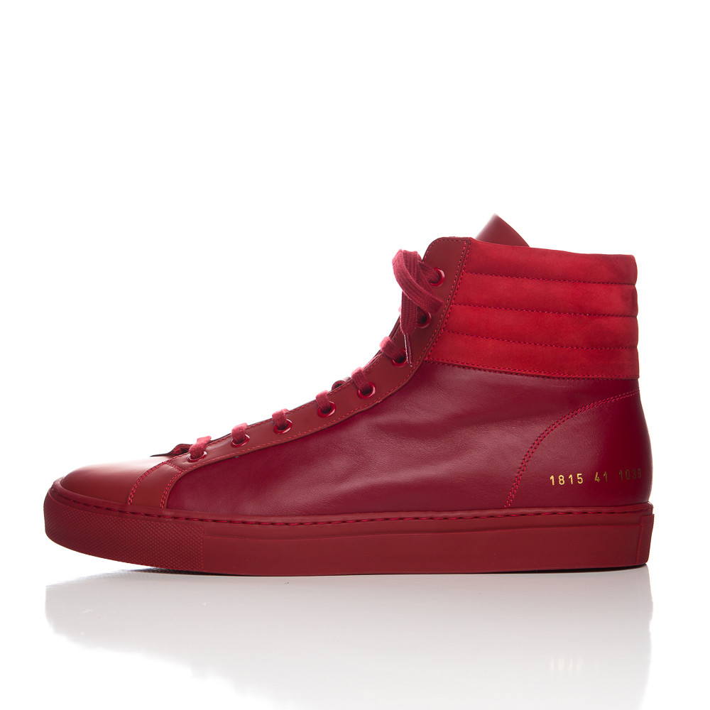 b2711ffd18f2 Lyst - Common Projects Achilles Premium High Red in Red for Men
