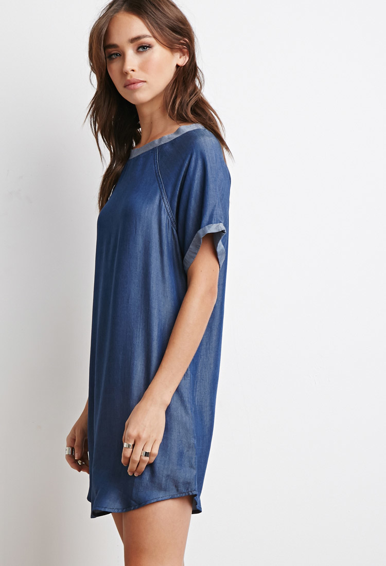 Long sleeve shirt dress rue 21 chambray
