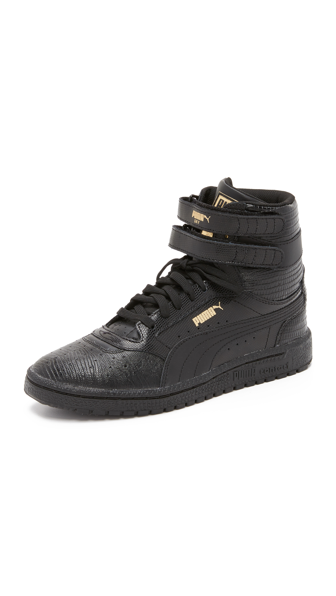 29634649d49 Lyst - PUMA Sky Ii High Top Sneakers in Black