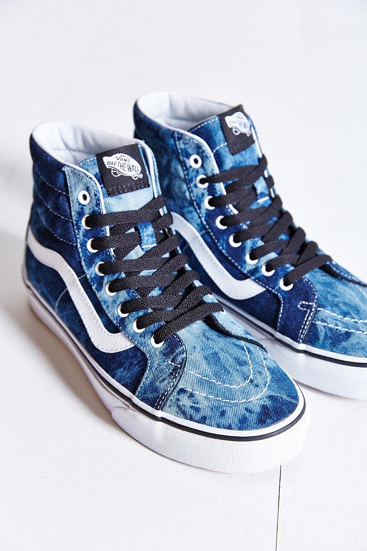 b7f06f69e1 Lyst - Vans Sk8-Hi Denim Reissue Sneaker in Blue