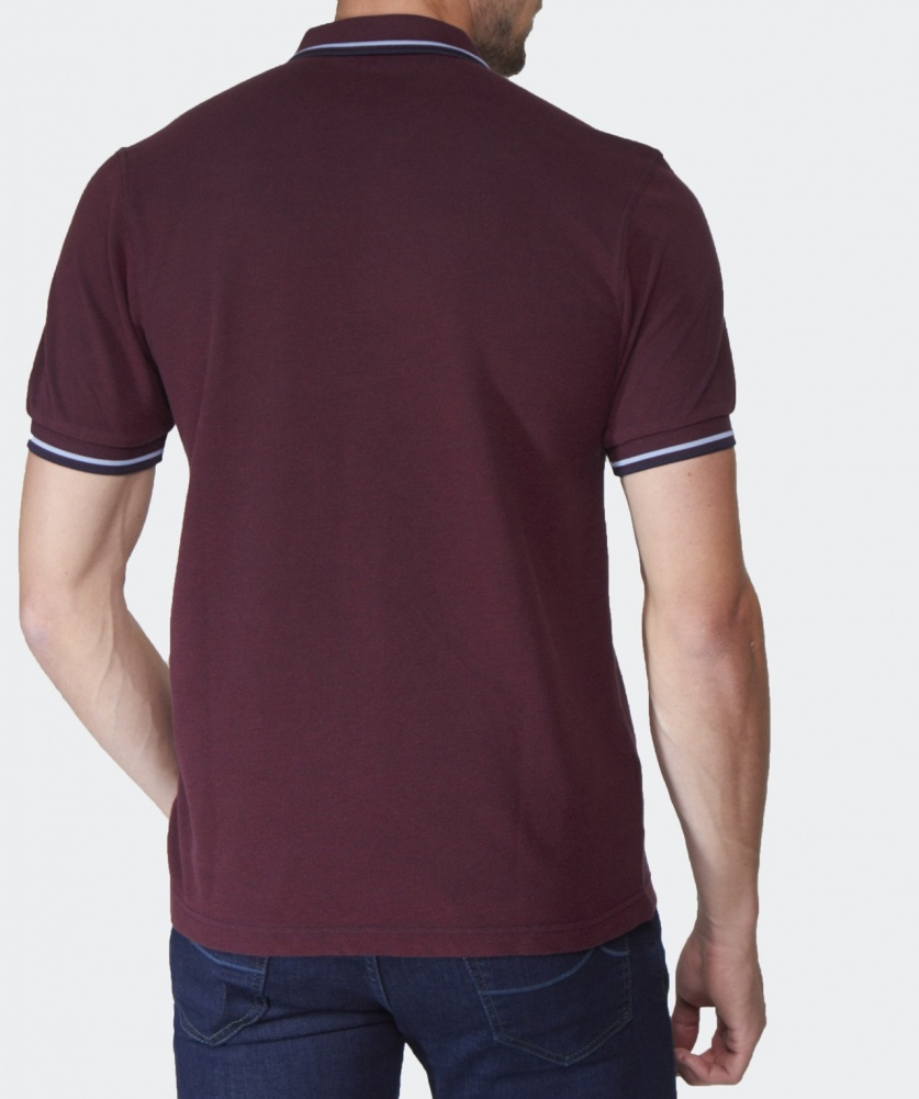 lyst fred perry slim fit twin tipped polo shirt in. Black Bedroom Furniture Sets. Home Design Ideas
