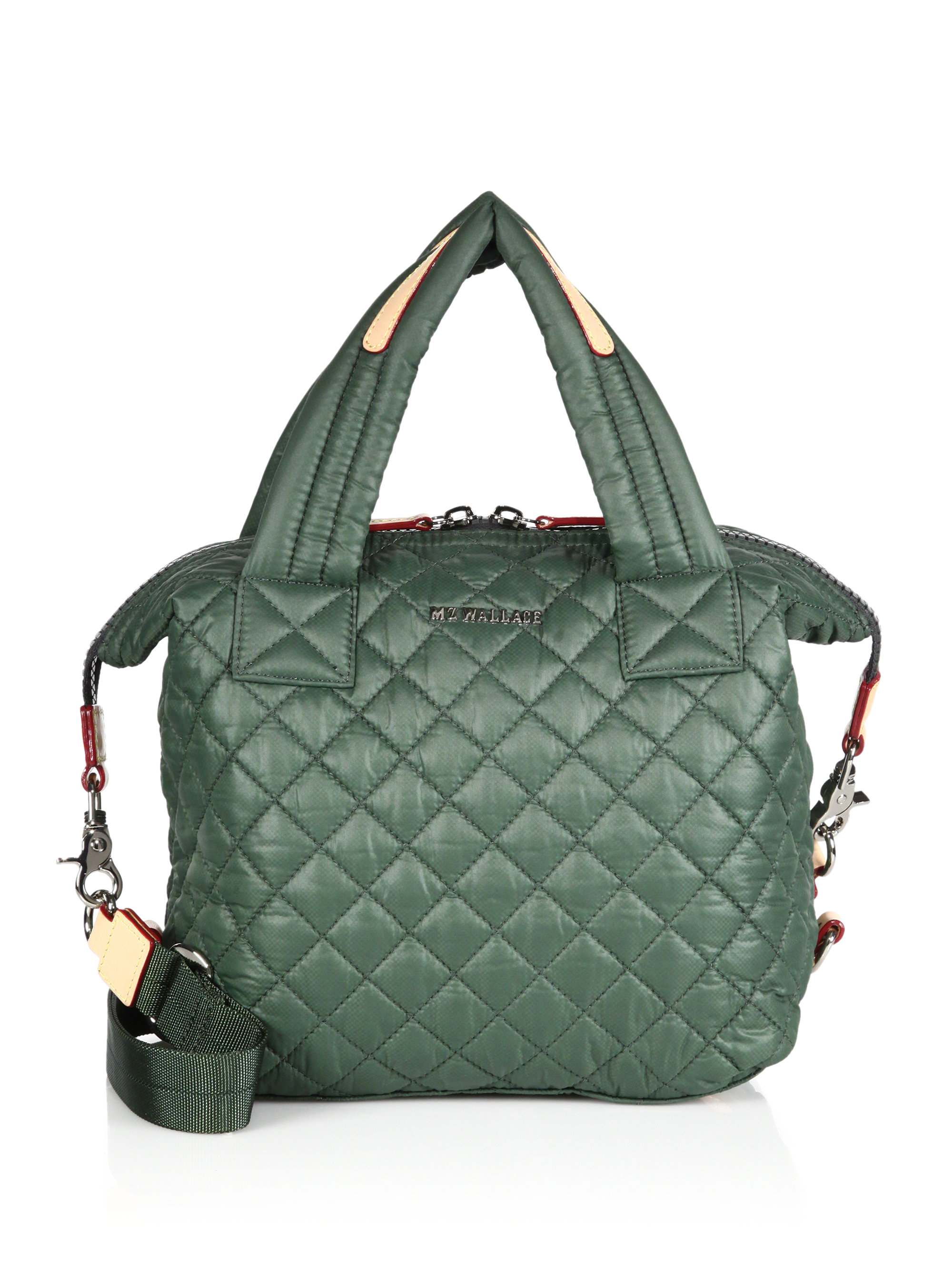 b394c73092 Lyst Mz Wallace Sutton Small Quilted Nylon Tote In Green. Prada Medium Quilted  Nylon Tote Bag Navy Blue
