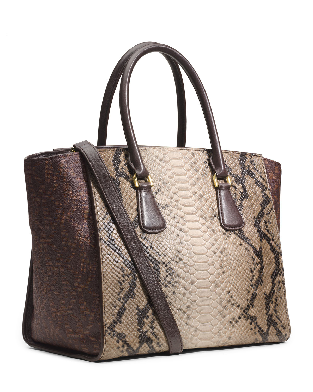 9c38611ad3a5 Lyst - MICHAEL Michael Kors Large Sophie Satchel in Natural