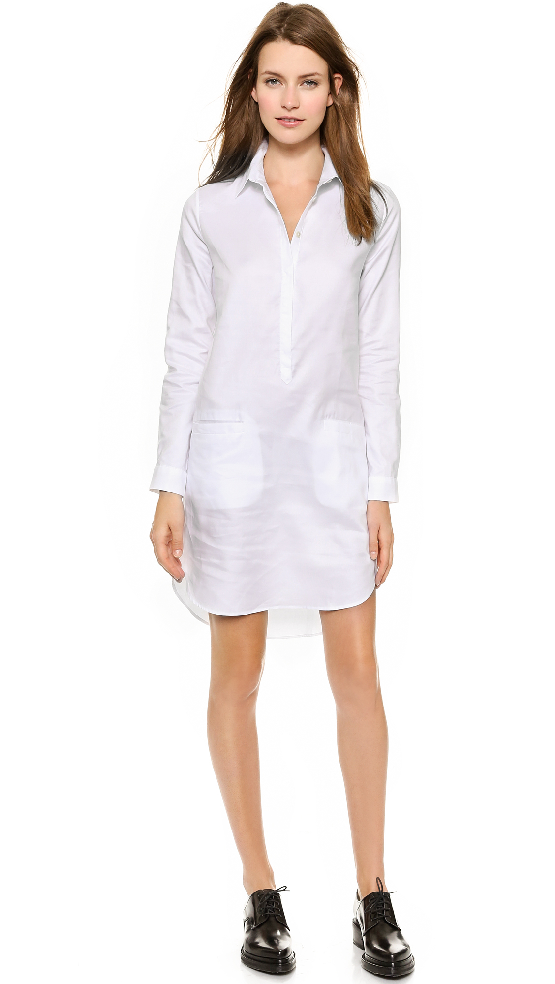 Lyst J W Anderson Classic Oxford Shirt Dress White In White