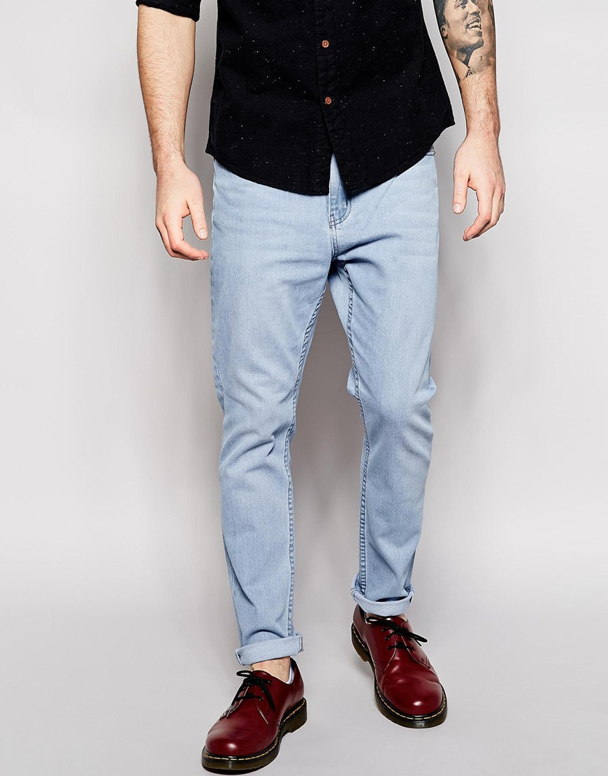 Cheap monday light blue skinny jeans mens – Global fashion jeans ...