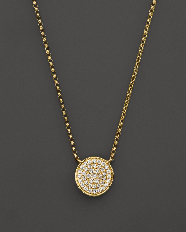 Kc Designs Diamond Pav 233 Disc Pendant Necklace In 14k