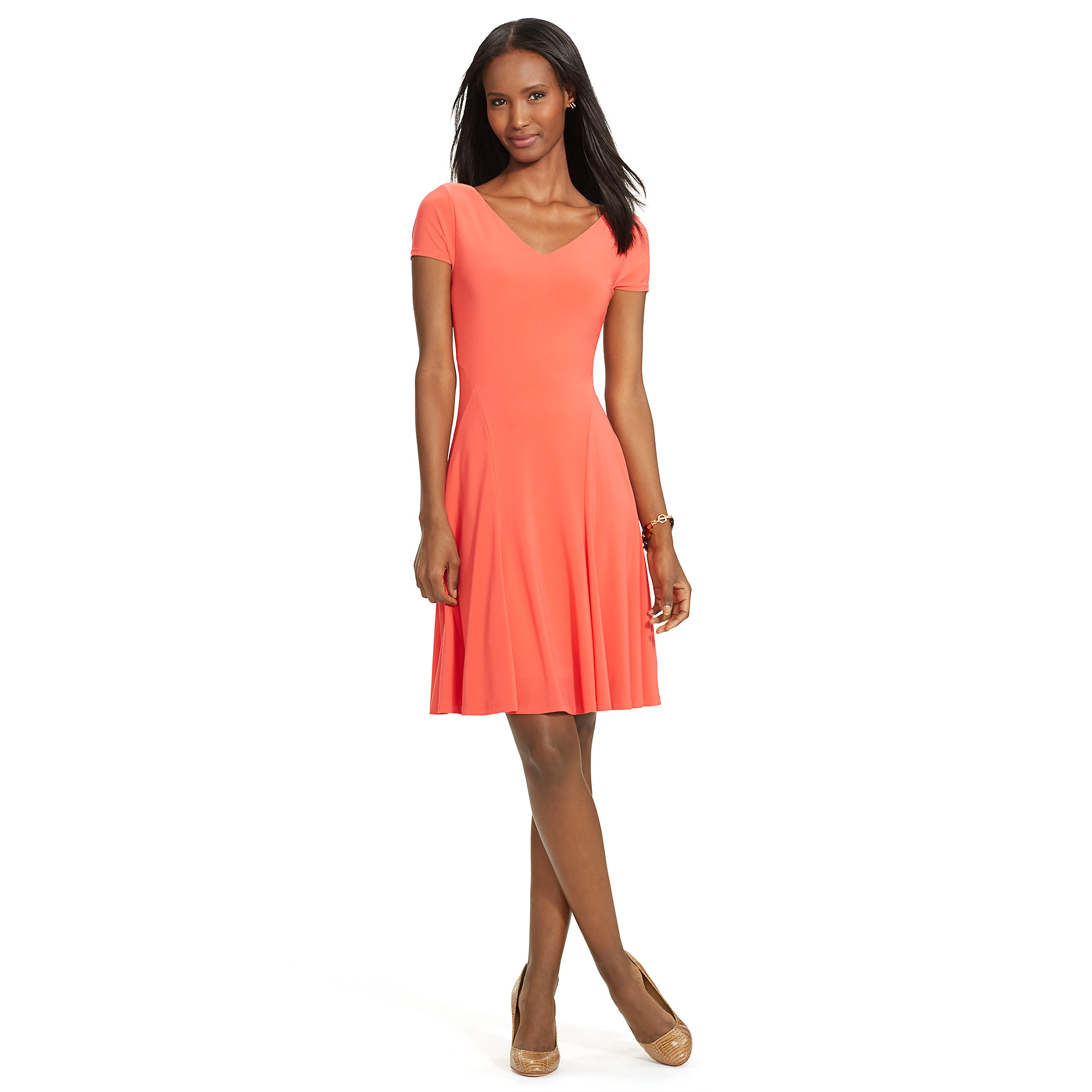 Pink Pony Jersey Fit And Flare Dress In Pink Lyst