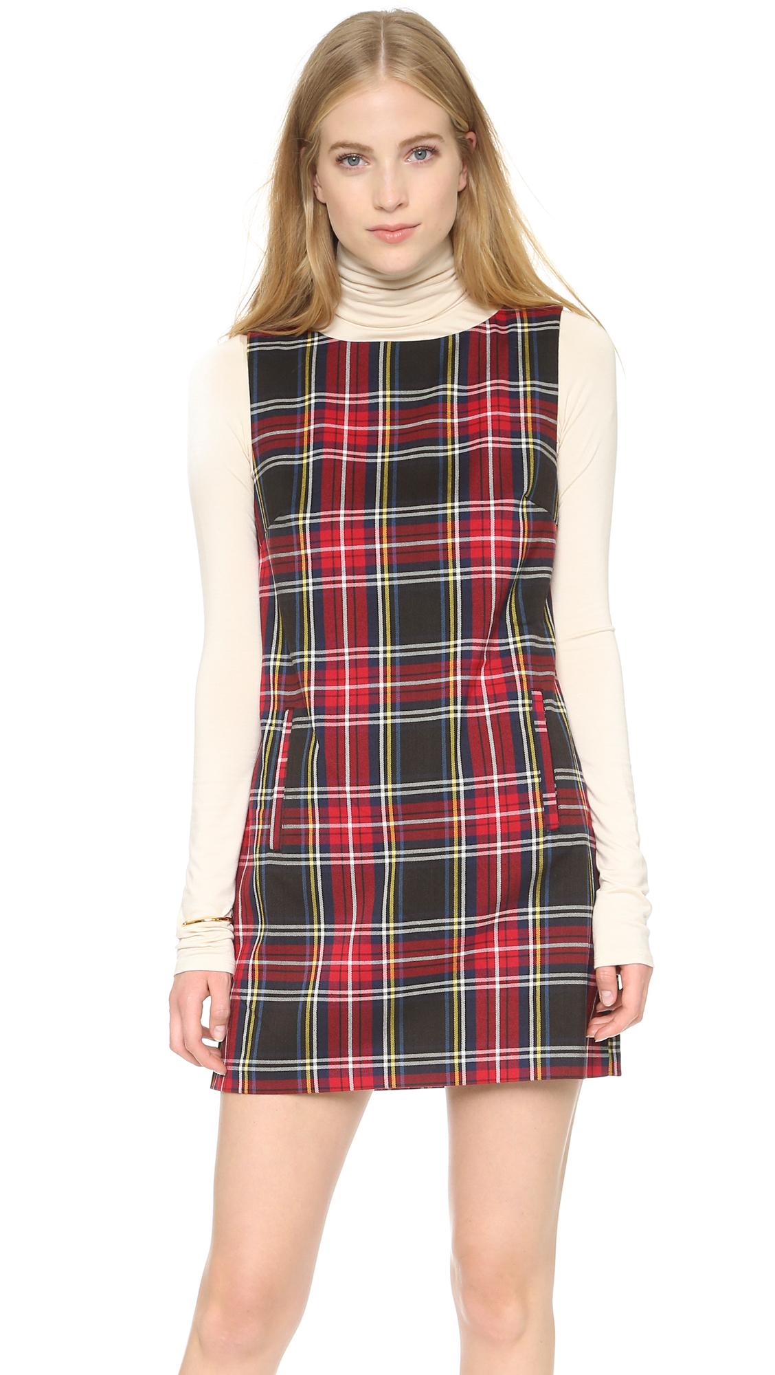 Lyst Bb Dakota Harlow Tartan Plaid Shift Dress Chilli