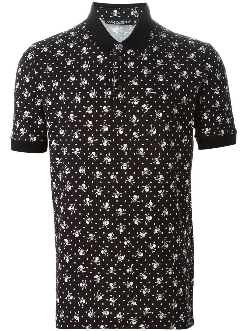 Lyst Dolce Amp Gabbana Dot Print T Shirt In Black For Men