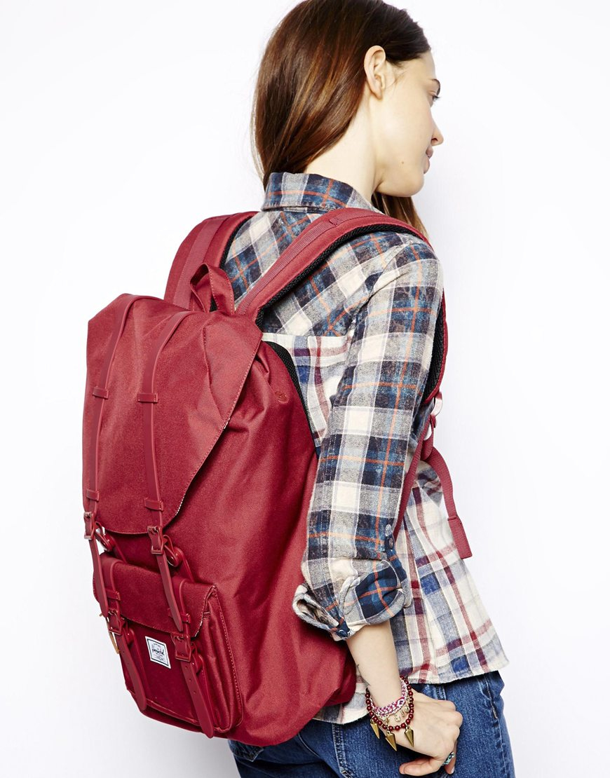 163cad769e Lyst - Herschel Supply Co. Little America Backpack Mid Volume in Red