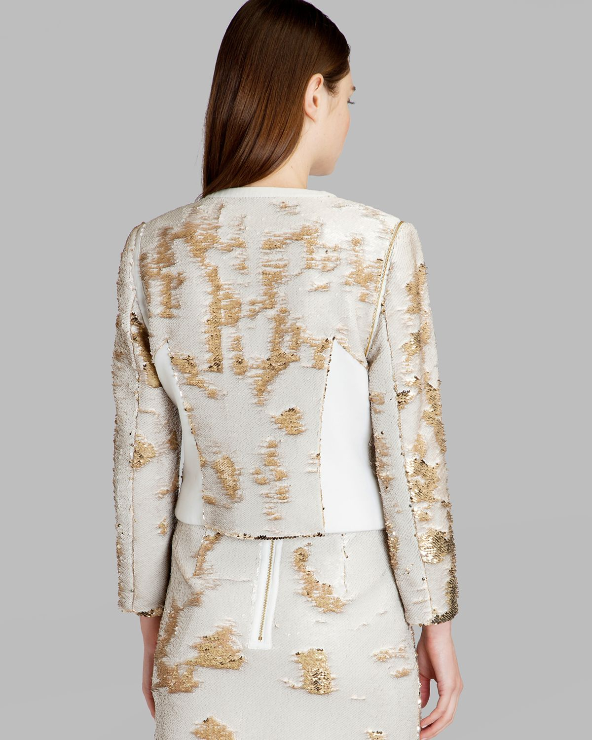 472d970ac9b8a6 Lyst - Ted Baker Jacket - Blubele Sequins in Metallic
