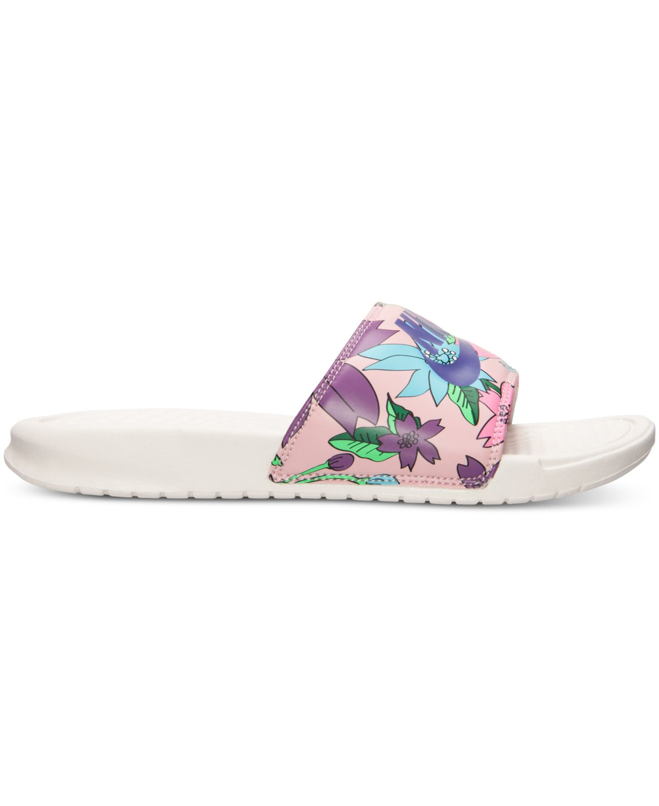ff7b74ee6 Nike Women's Benassi Jdi Print Slide Sandals From Finish Line in ...