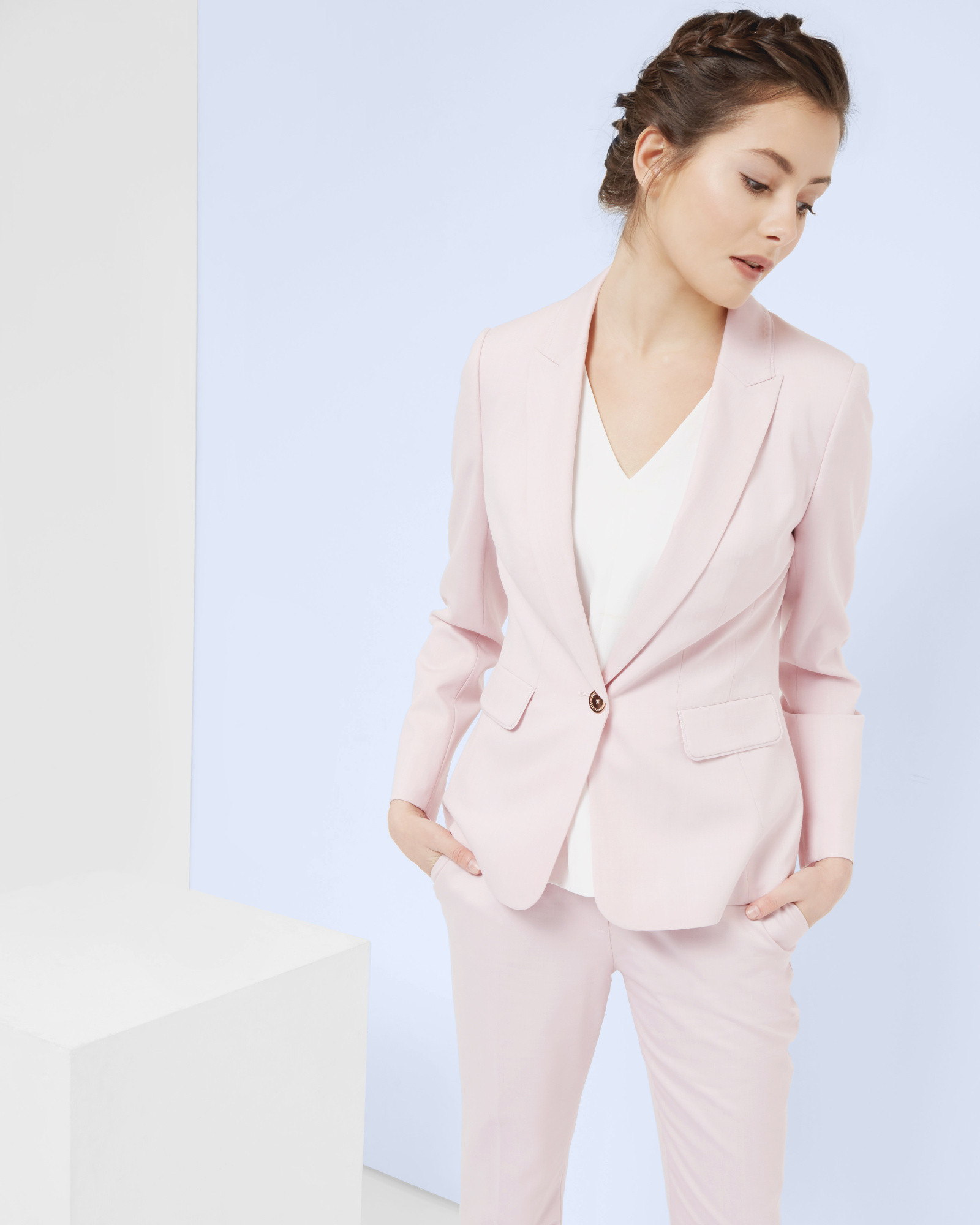 5b4d147223912 Lyst - Ted Baker Pastel Tailored Jacket in Pink