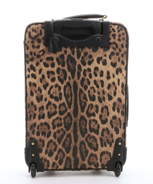 c888fa1f812a Dolce   Gabbana Leather Trimmed Leopard Print Coated Canvas Rolling Luggage  - Lyst