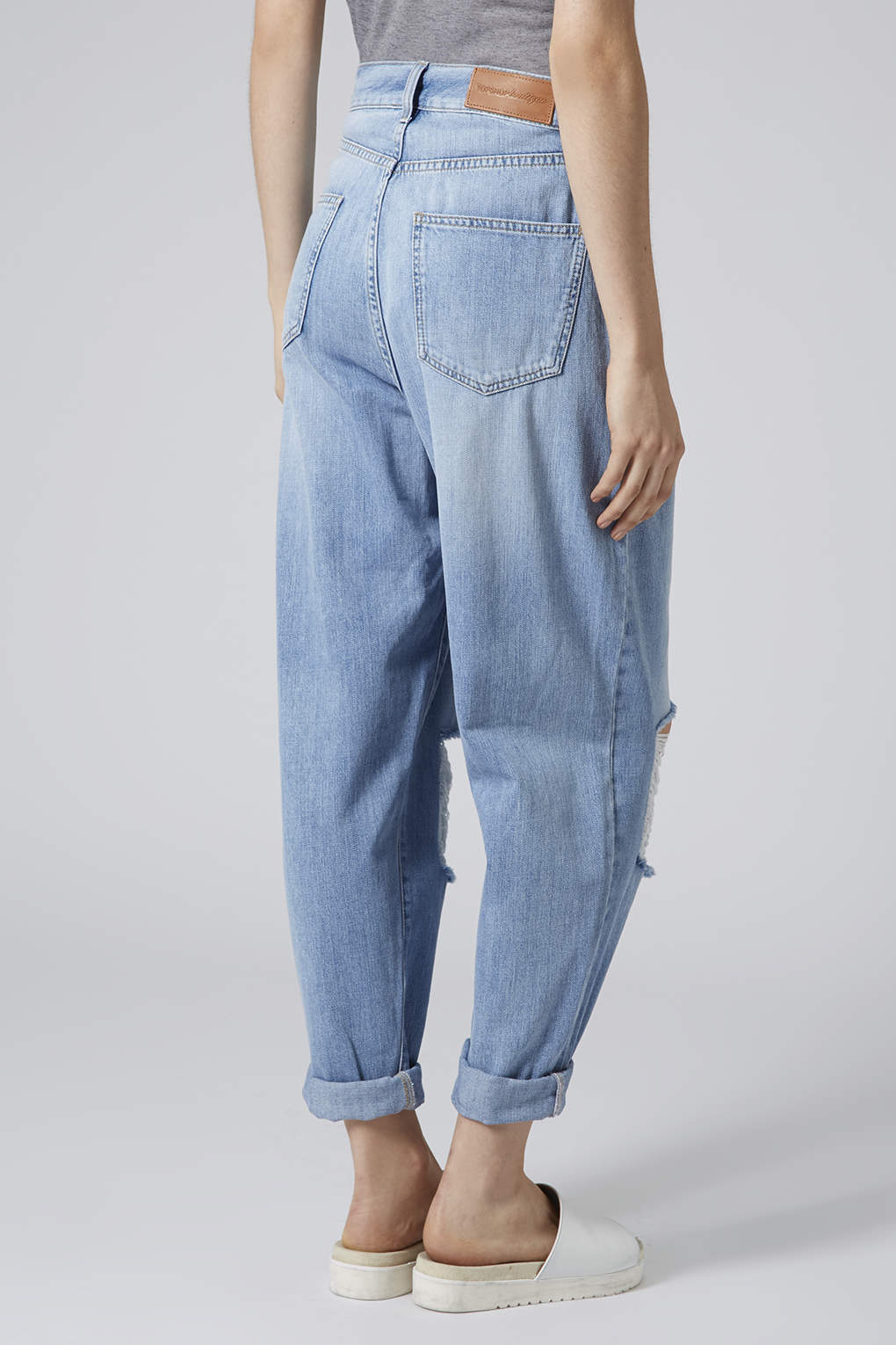 TOPSHOP Surf Ripped Baggy Jeans in Blue - Lyst